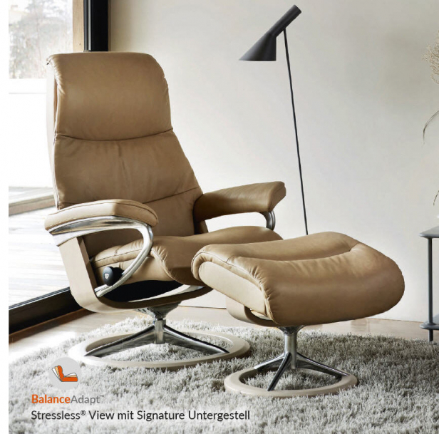Stressless Sessel View mit Signature Untergestell