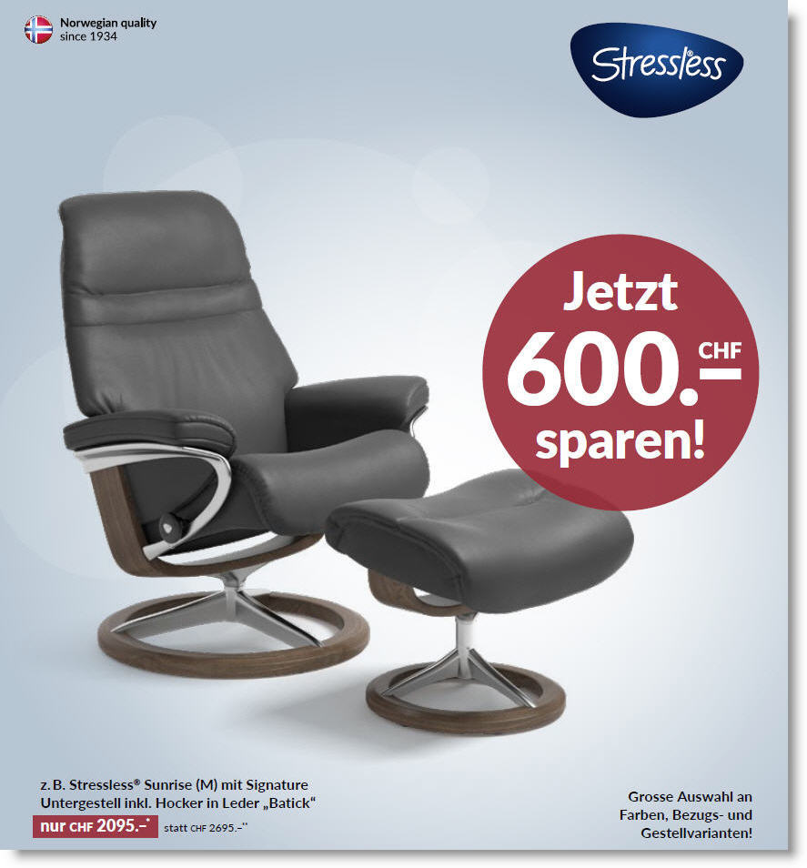 Stressless Sunrise Aktion Relaxsessel