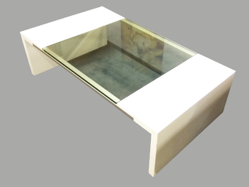 Salontisch Weissglas Möbel Waeber Webshop