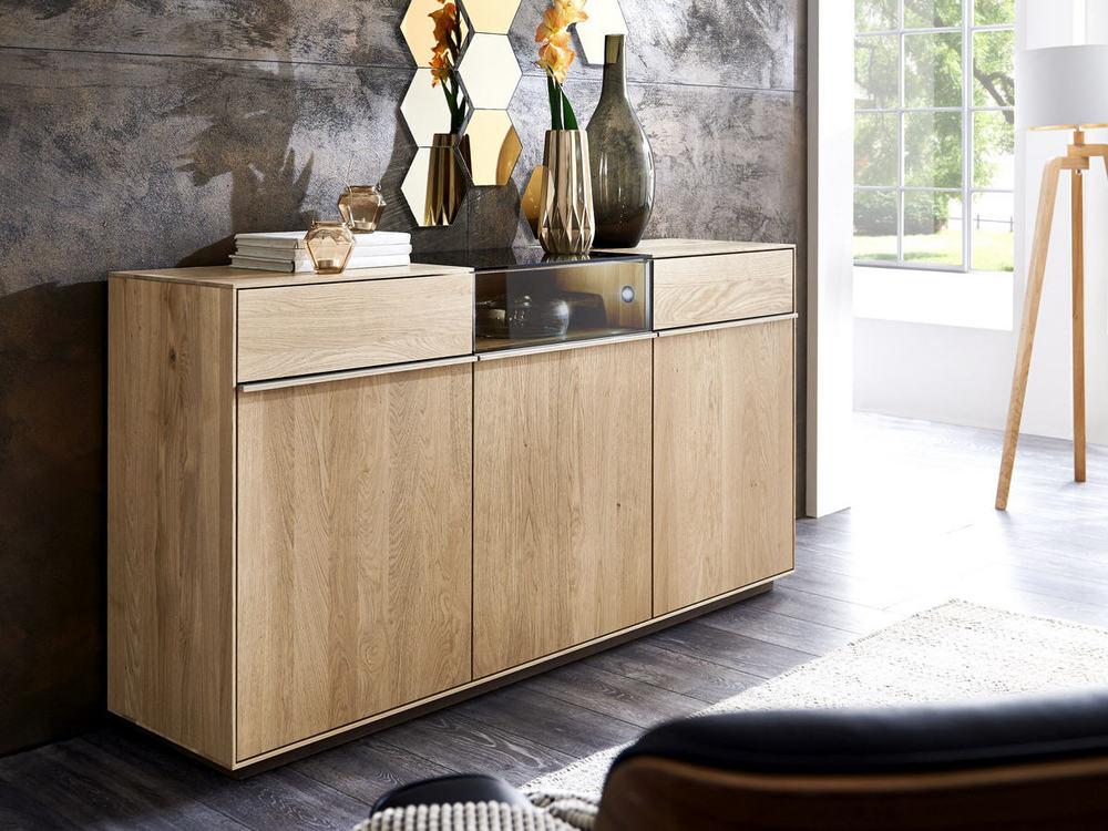 sideboard lowboard saluto in asteiche massiv oder. Black Bedroom Furniture Sets. Home Design Ideas