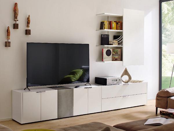 wohnwand h lsta fena mit massiv holz oder lack weiss. Black Bedroom Furniture Sets. Home Design Ideas