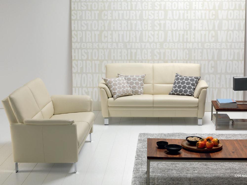 sofa aida in leder oder stoff m bel waeber webshop. Black Bedroom Furniture Sets. Home Design Ideas
