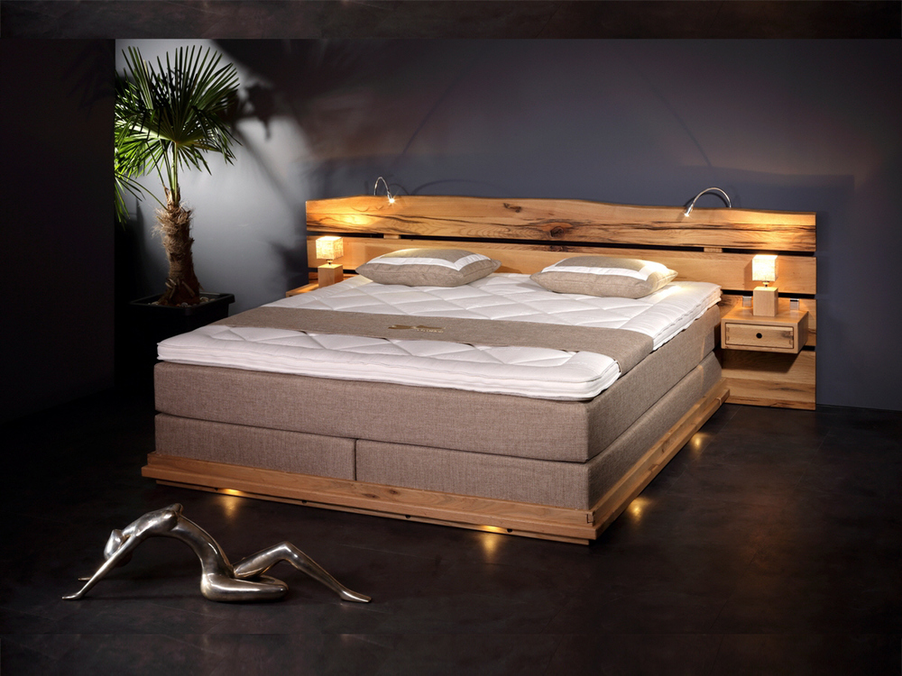 sprenger vital boxspringbett mit waldkante m bel waeber webshop. Black Bedroom Furniture Sets. Home Design Ideas