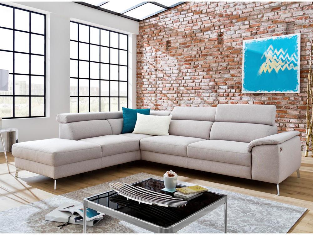 Sofa mit Sitzvorzug in Stoff oder Leder - Möbel Waeber Webshop