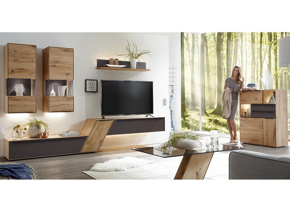 wohnwand ramos in astbuche oder asteiche massiv m bel. Black Bedroom Furniture Sets. Home Design Ideas