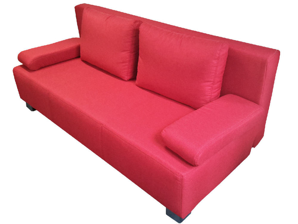 bettsofa donald in stoff rot m bel waeber webshop. Black Bedroom Furniture Sets. Home Design Ideas