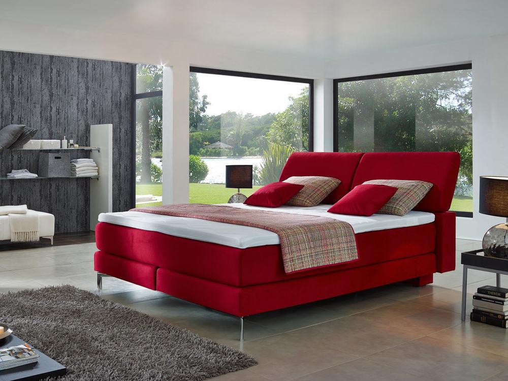 boxspringbett mit verstellbarem kopfteil m bel waeber webshop. Black Bedroom Furniture Sets. Home Design Ideas