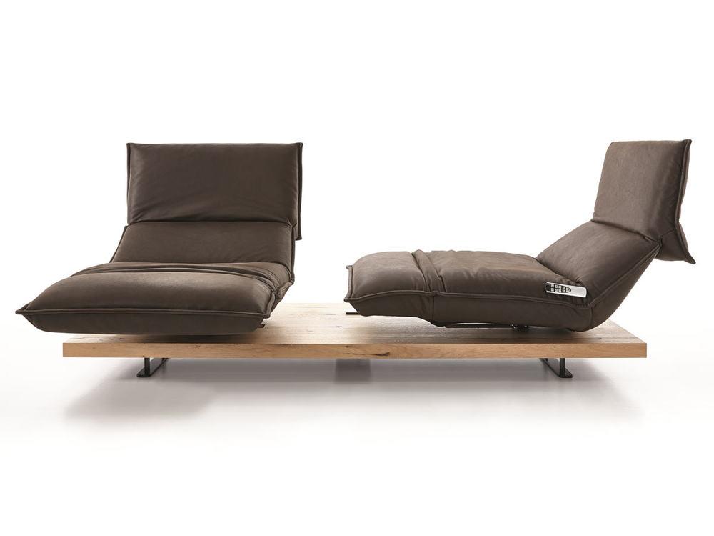 Sofa edit in leder oder stoff drehbar und aufstellbare for Edit 03 sofa