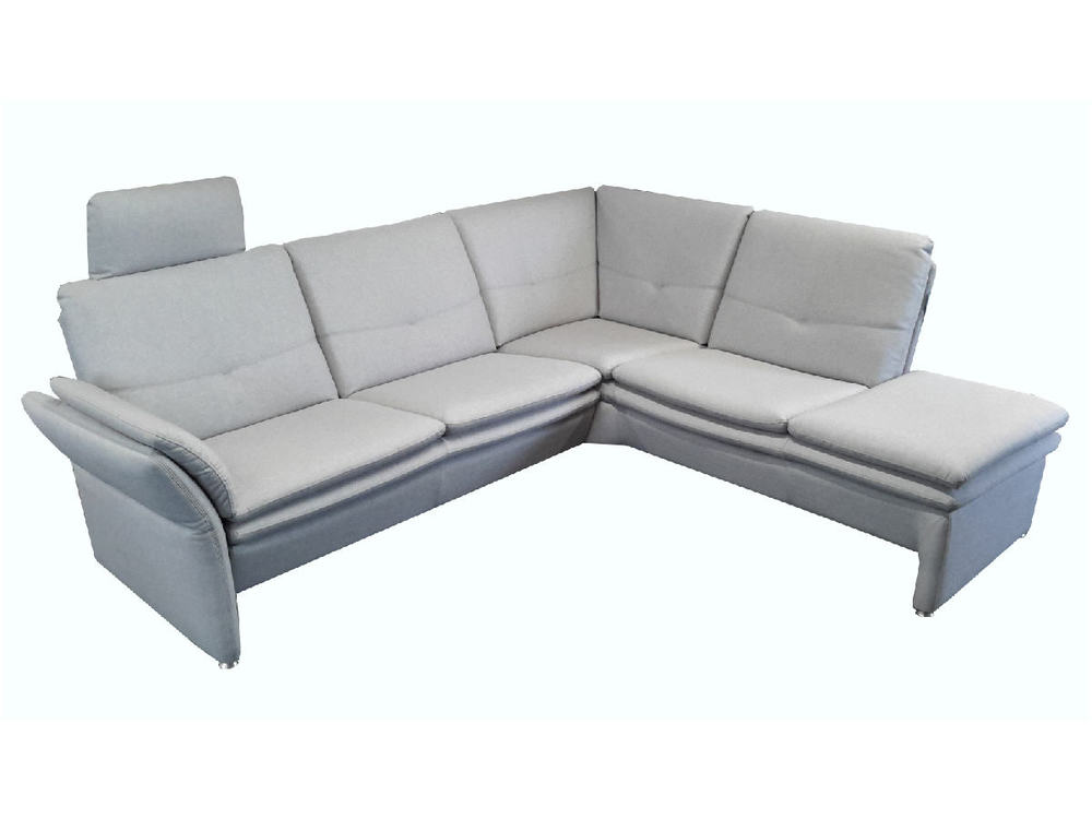 sofa floris ecksofa in stoff hellgrau mit kopfst tze m bel waeber webshop. Black Bedroom Furniture Sets. Home Design Ideas