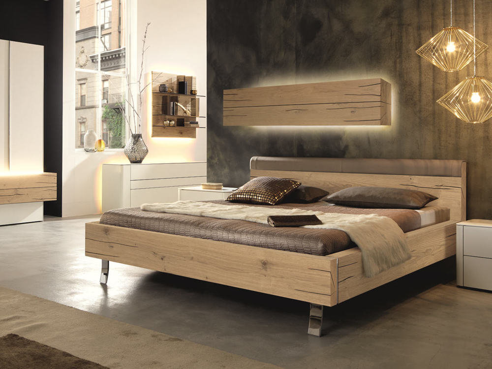 schlafzimmer h lsta gentis in eiche naturstamm oder kernnussbaum m bel waeber webshop. Black Bedroom Furniture Sets. Home Design Ideas