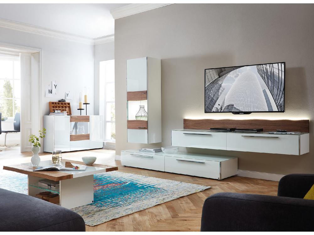 Wohnwand Leonardo Elements Mit Baumkante Möbel Waeber Webshop