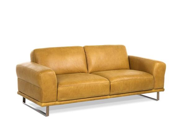 sofa montanaa 2er sofa mittelgross leder kurkuma m bel waeber webshop. Black Bedroom Furniture Sets. Home Design Ideas