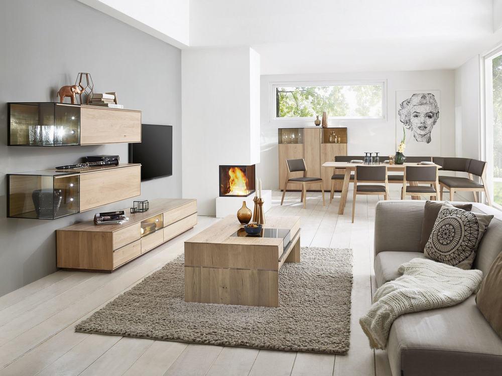 wohnwand saluto in asteiche massiv oder nussbaum massiv m bel waeber webshop. Black Bedroom Furniture Sets. Home Design Ideas
