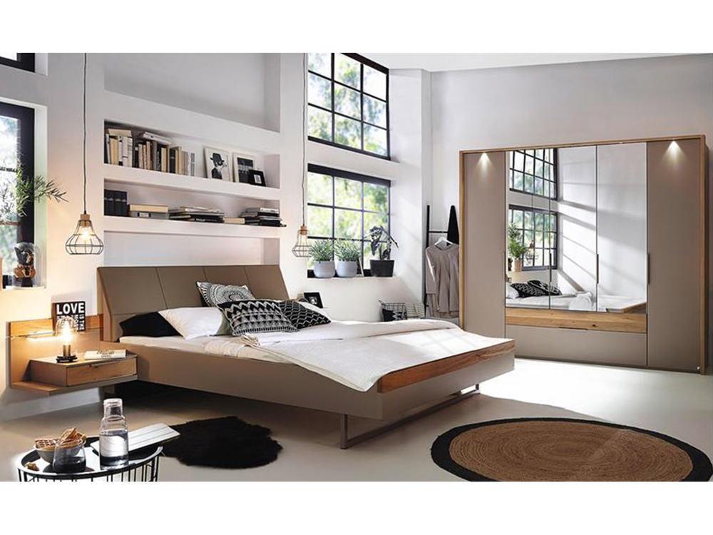 schlafzimmer in wildeiche mit schwarz oder fango m bel. Black Bedroom Furniture Sets. Home Design Ideas