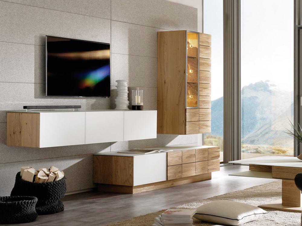 wohnwand v montana in wildeiche ge lt oder spaltholz m bel waeber webshop. Black Bedroom Furniture Sets. Home Design Ideas