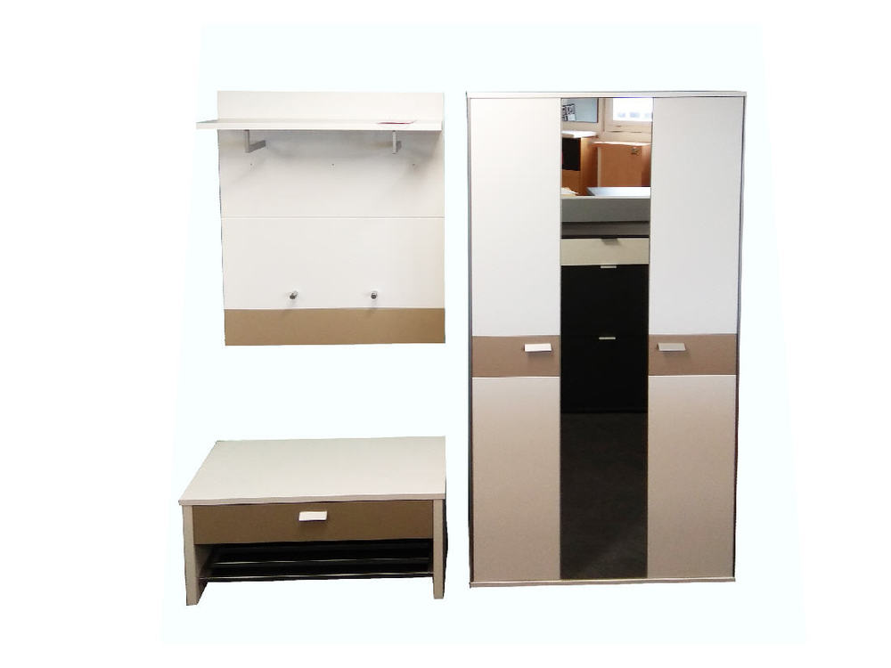 garderobe viola in lack weiss sand 3 teilig m bel waeber webshop. Black Bedroom Furniture Sets. Home Design Ideas