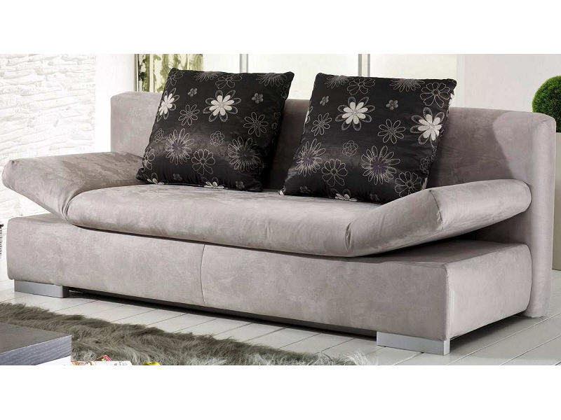 bettsofa asterix in stoff grau m bel waeber webshop. Black Bedroom Furniture Sets. Home Design Ideas