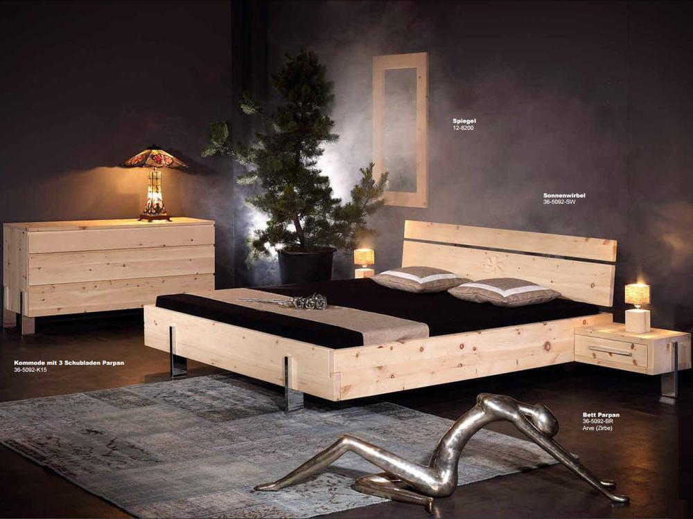 Balkenbett zirbe  SPRENGER PARPAN Balkenbett Arve (Zirbe) - Möbel Waeber Webshop