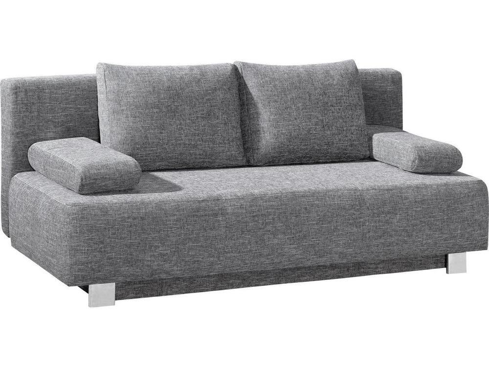 bettsofa donald in stoff grau m bel waeber webshop. Black Bedroom Furniture Sets. Home Design Ideas