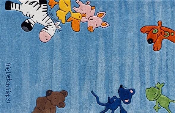 Kinderteppich die lieben sieben  KINDERTEPPICH Die Lieben Sieben handgetuftet - Möbel Waeber Webshop
