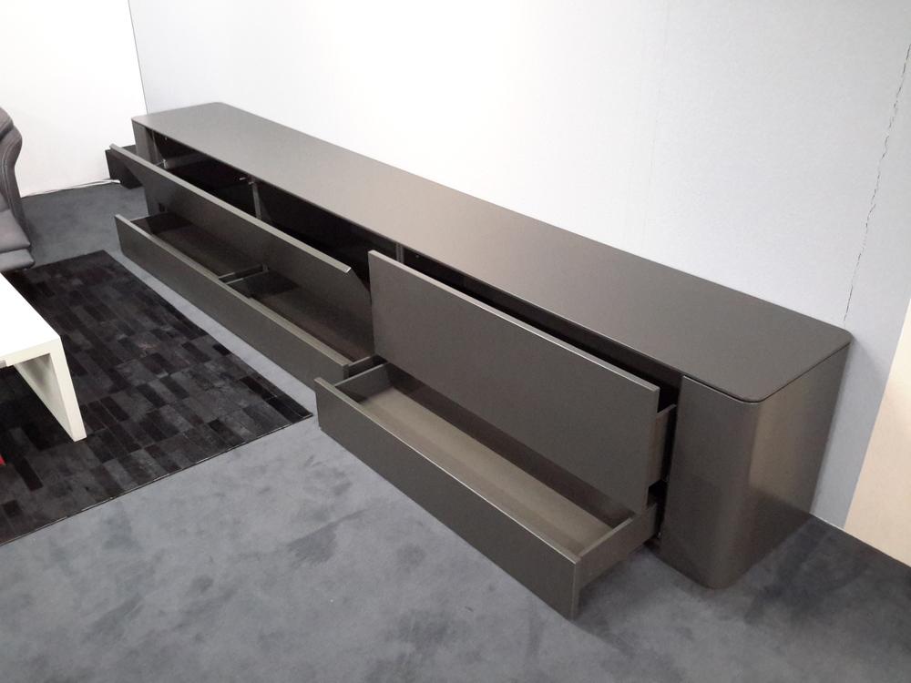 lowboard h lsta gentis in lack dunkelgrau m bel waeber. Black Bedroom Furniture Sets. Home Design Ideas