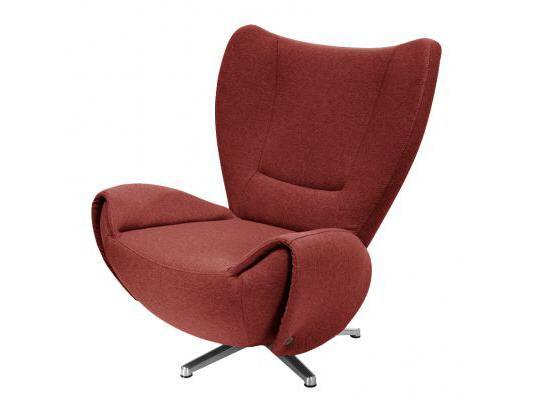 tom tailor drehsessel tom stoff rot mit 2 armteilen m bel waeber webshop. Black Bedroom Furniture Sets. Home Design Ideas